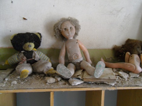 Dolls in a Pripyat kindergarten