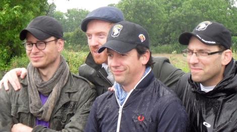 Shane Taylor, Damian Lewis, Ross McCall & Ben Caplan - Normandy 2014