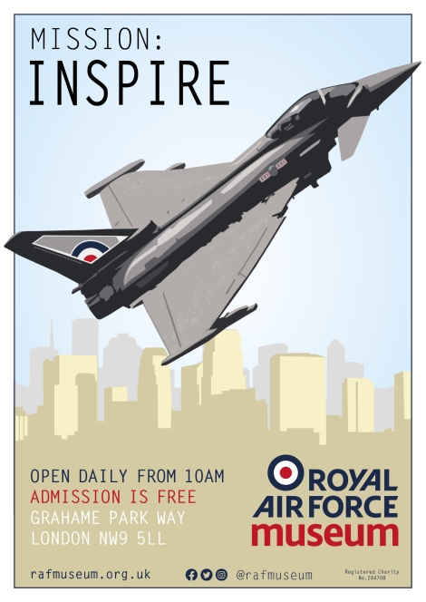 RAF Museum poster designs - Typhoon fighter
